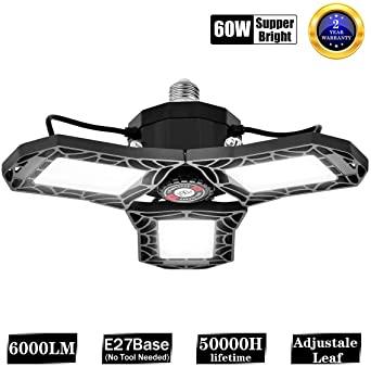 Lámpara Garaje LED E27 Bawoo 60W 6000LM Ajustable 270° (Oferta flash)