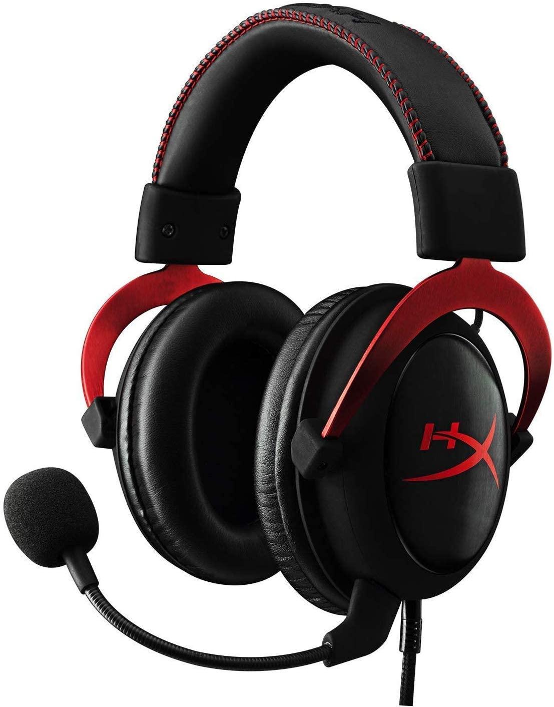 HyperX KHX-HSCP-RD Cloud II - Cascos de Gaming para PC/PS4/Mac, Negro/Rojo