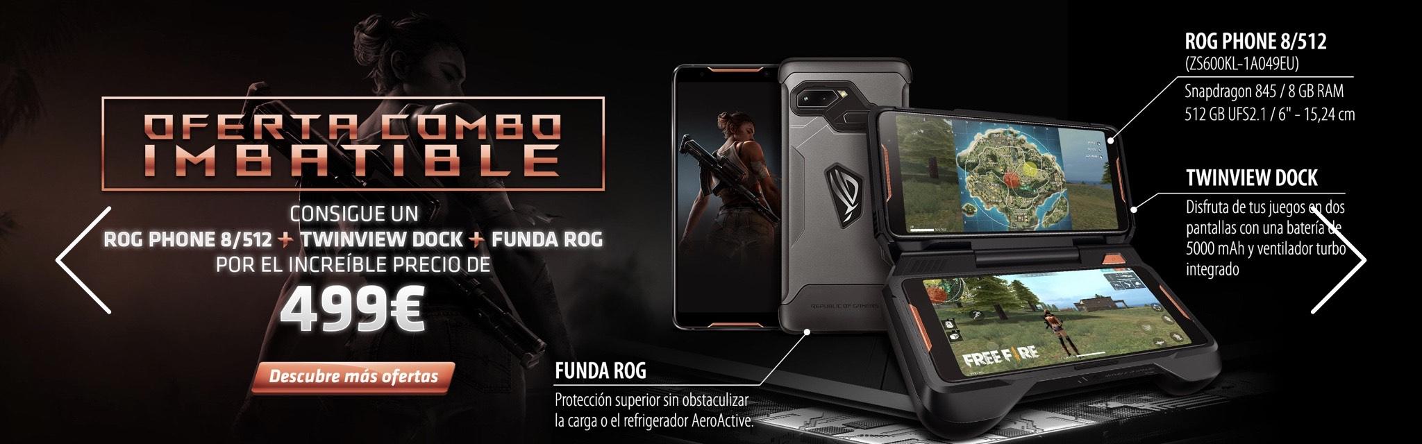 ASUS Rog Phone 512 gb + TwinView + Funda