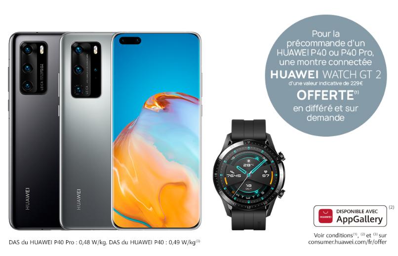 HUAWEI P40 8GB/128GB 5G +50€ en AMAZON FRANCIA