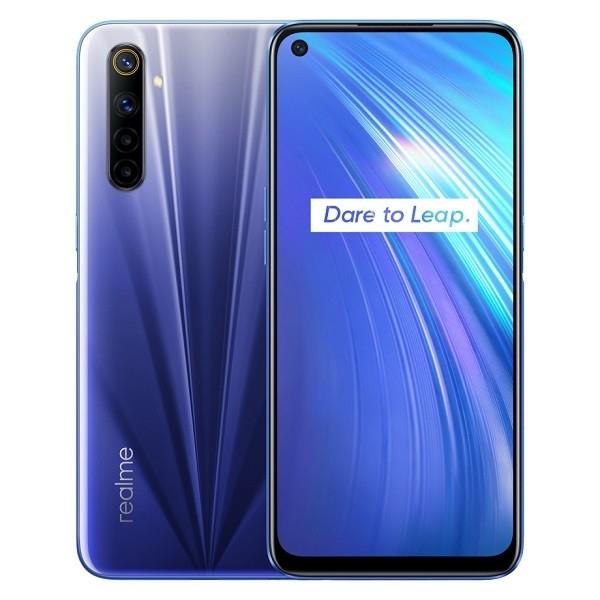 Smartphone REALME 6 (64MP,4GB+64GB, EU versión) - Cometa Azul/Cometa Blanco