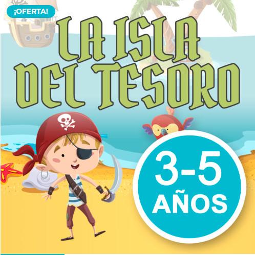 La Isla del Tesoro para niños de entre 3-5 años o 6-8 años (GRATIS)