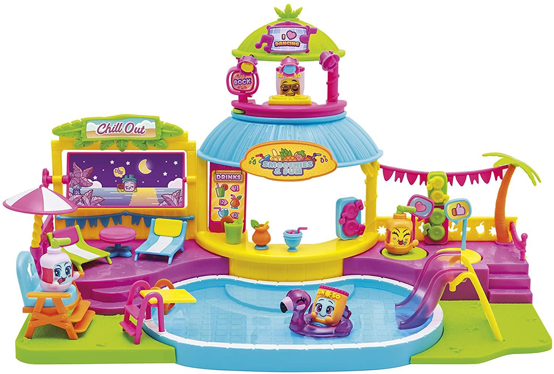 Juguete MOJIPOPS - Pool Party con 2 exclusivas figuras MojiPops y variedad de accesorios