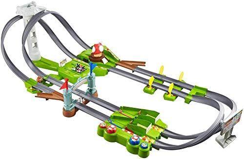 Circuito Hot wheels Mario Kart con coches