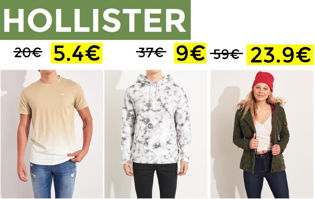 Hasta 70% + 20% EXTRA en Hollister
