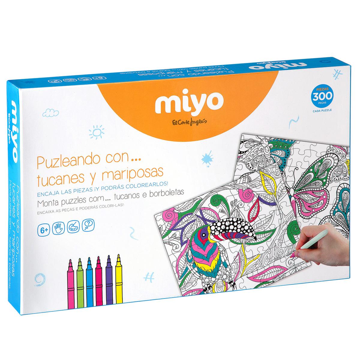 Puzzles para colorear MIYO