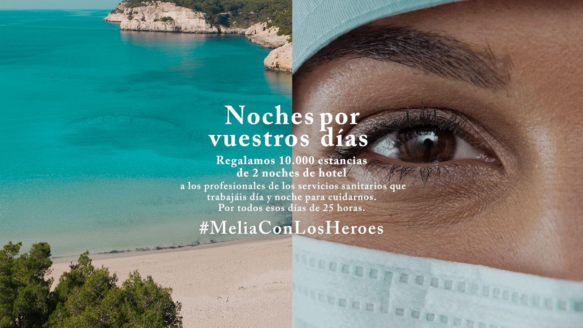 Noches gratis en hoteles Melia, para profesionales de los servicios sanitarios