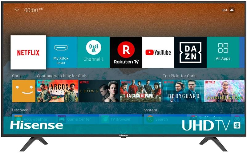 """Smart TV Hisense 50"""" 4K Ultra HD con Alexa Integrada"""