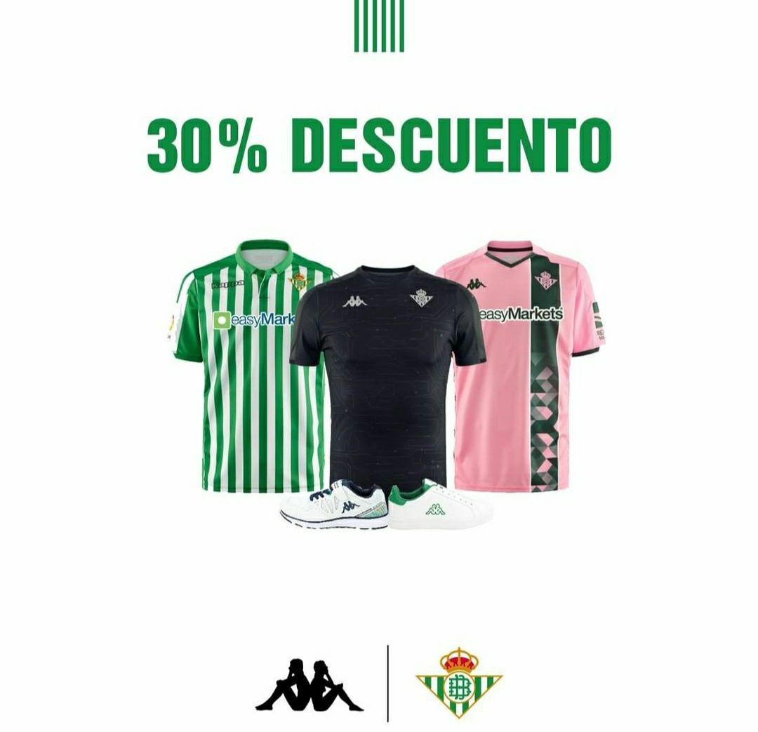 Descuento tienda Real Betis Balompié