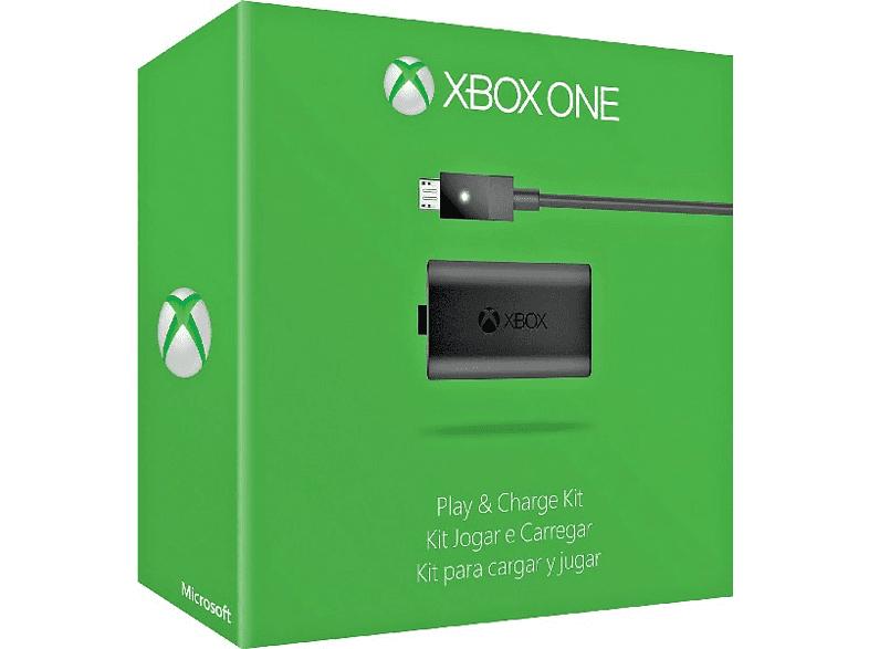 Kit de recarga para mando inalámbrico Microsoft KIT CARGA Y JUEGA, para Xbox One, cable Micro-USB