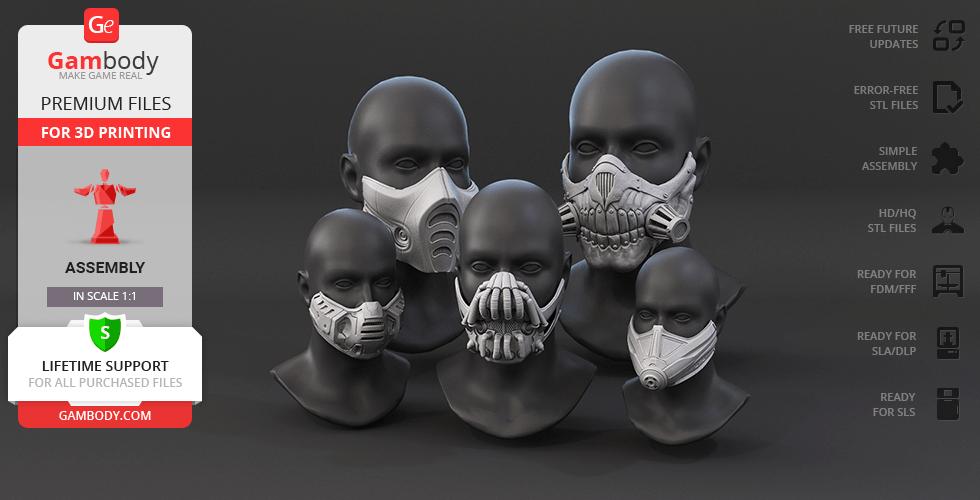 Modelos Gratuitos de Máscaras para Imprimir en 3D
