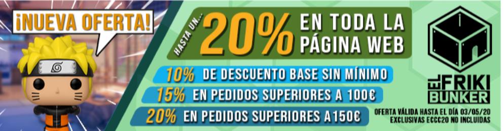 Funko Pop por menos de 5€, 10% de descuento sin mínimos en toda la web y un 20% a partir de 150€