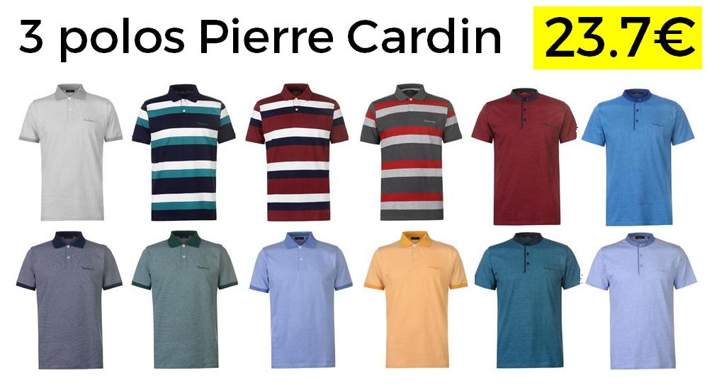 3 polos Pierre Cardin solo 23.7€