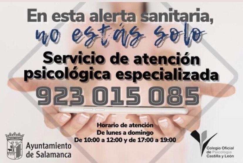 Atención psicológica especializada Ayuntamiento Salamanca