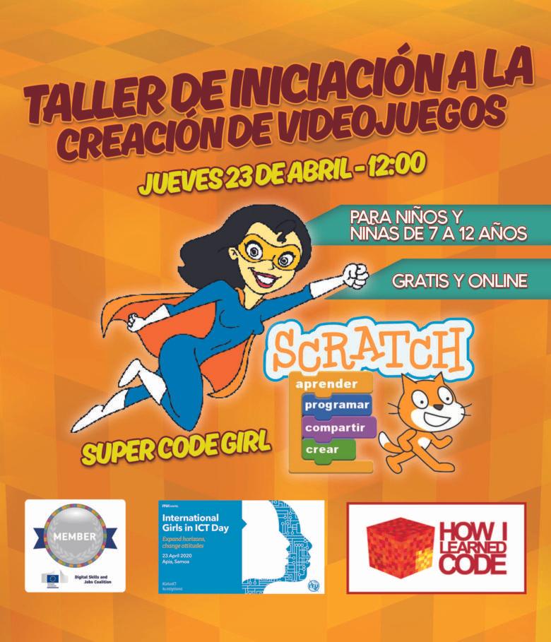 Hoy!!! Taller gratuito de Scratch - programación para niños 23 de Abril