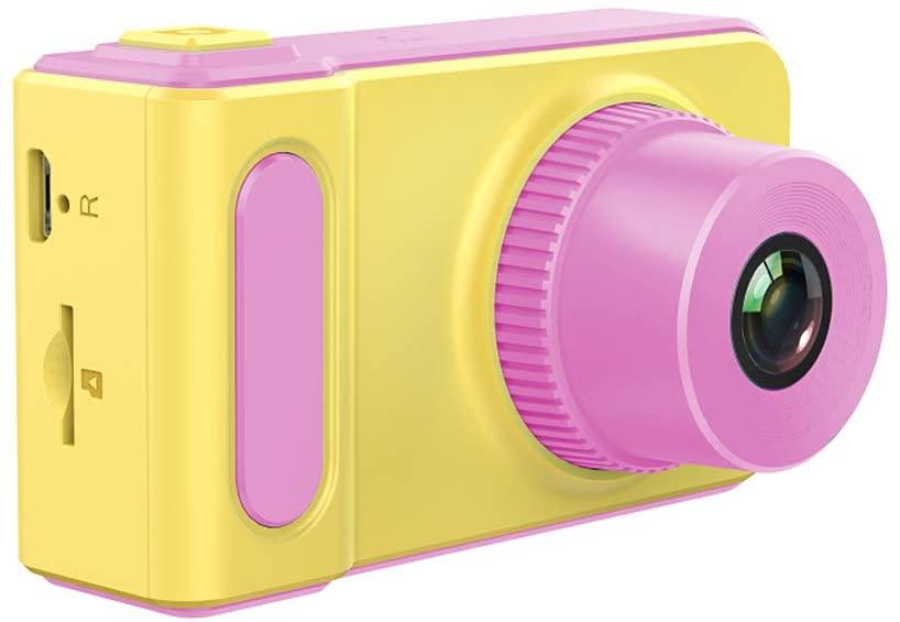 Cámara Digital para niños (Rosa y Amarillo) (Reacondicionado Como Nuevo)