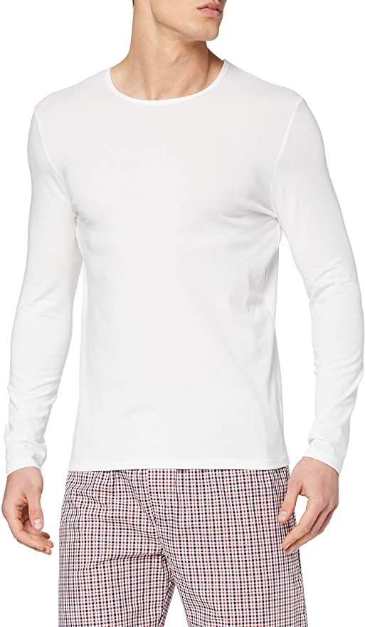 Maglev Essentials Pijama de Satén Hombre, Talla L, en rojo-blanco-navy
