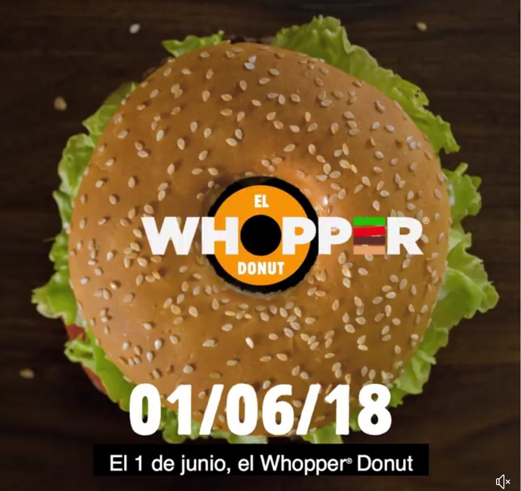 WHOPPER Donut gratis