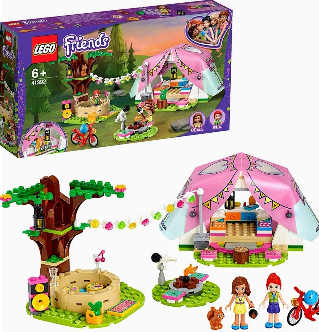 LEGO FRIENDS Aventuras con Tienda de Campaña de Juguete y Bicicleta Roja, Incluye Muñecas de Olivia y Mia (Precio al tramitar)