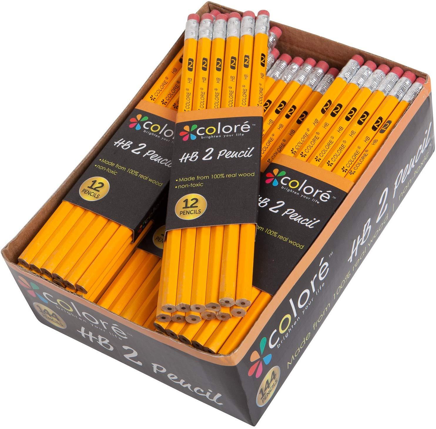 144 lápices HB con borrador