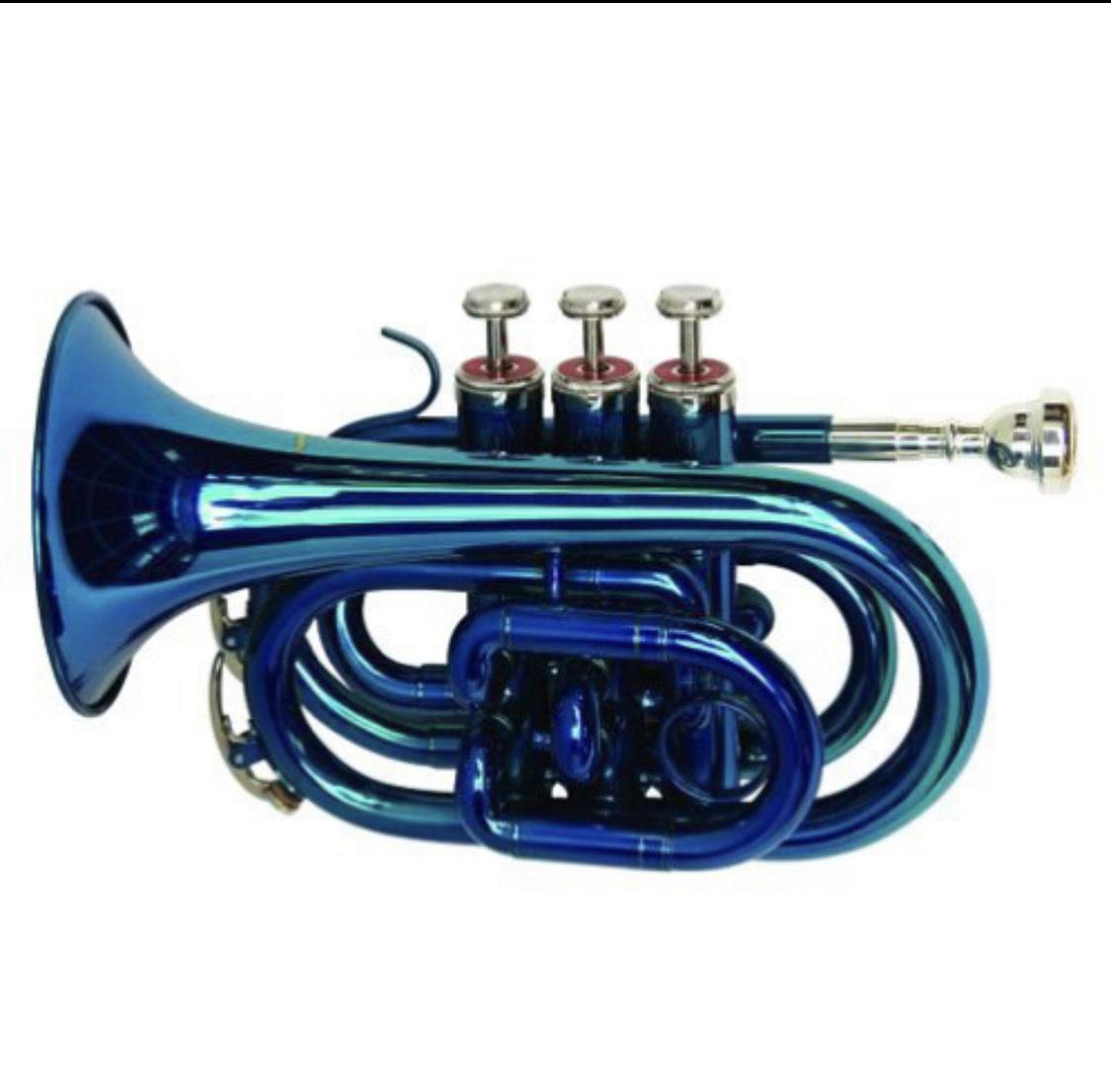 Trompeta color azul Dimavery