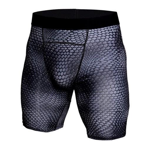Mallas deportivas con marcaje testicular y piel de serpiente.