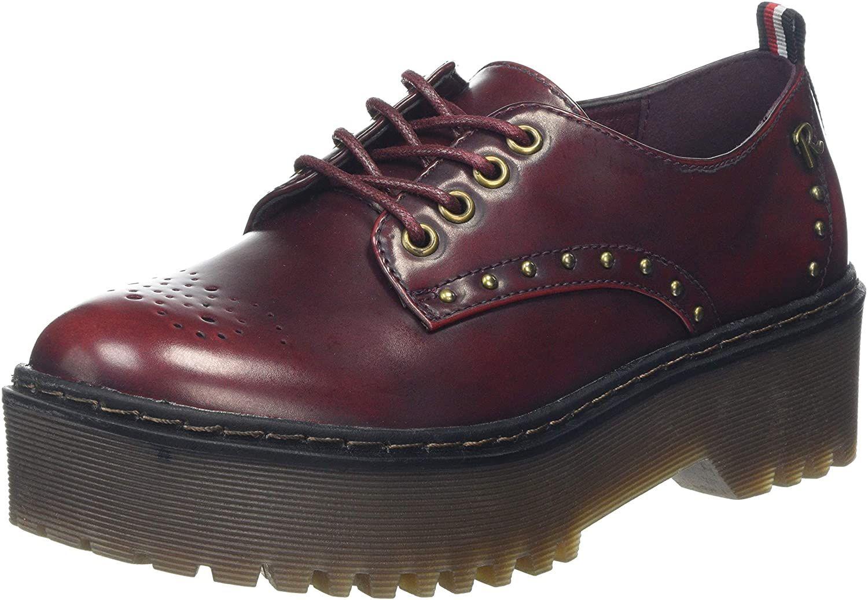 Zapato Refresh de mujer, talla 36, marrón y negro.