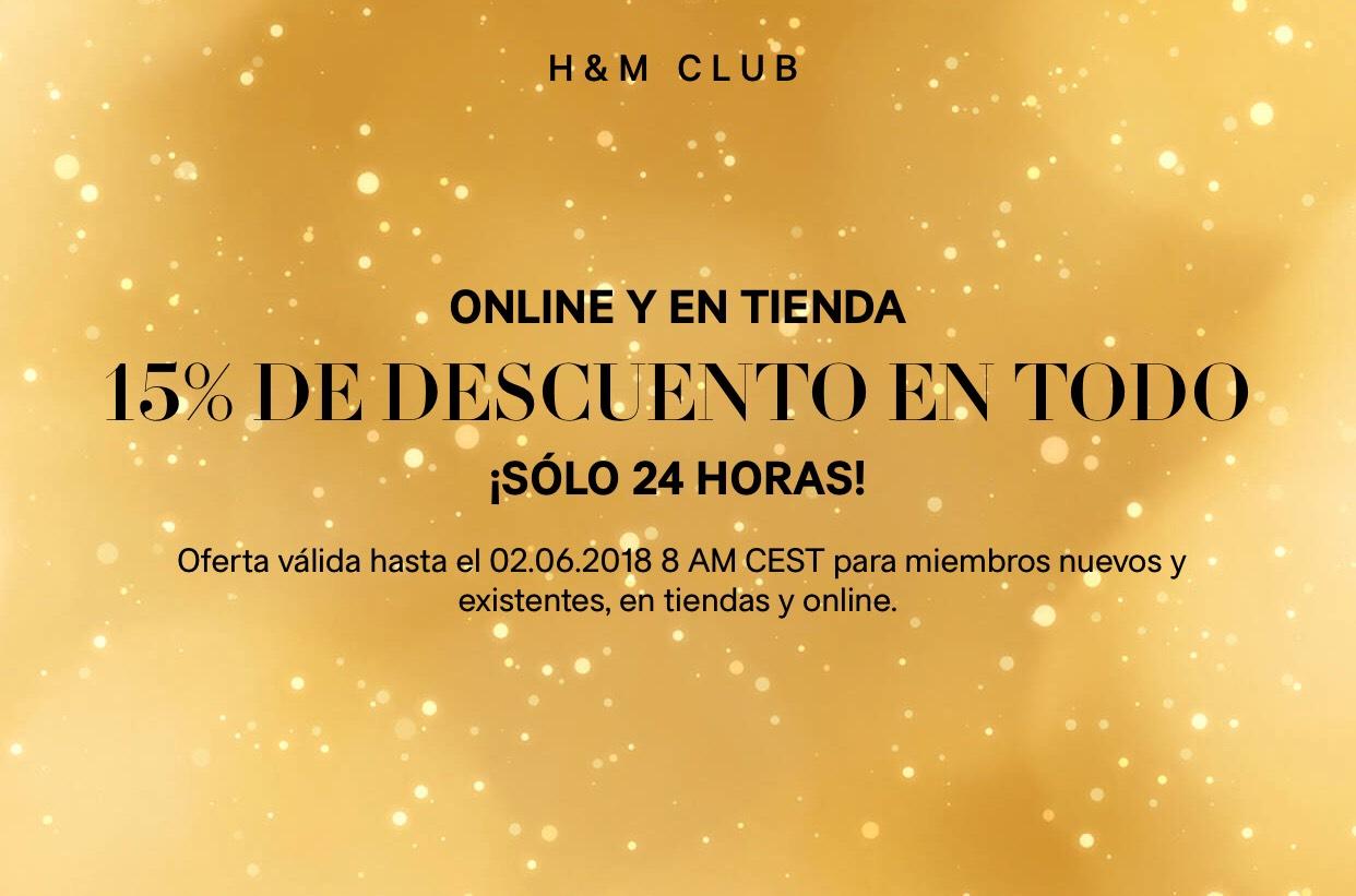 H&M 15% DE DESCUENTO EN TODO ¡SÓLO 24 HORAS!