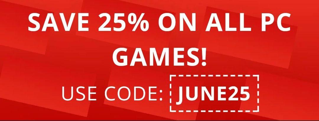 25% en Keys para todos los juegos de PC