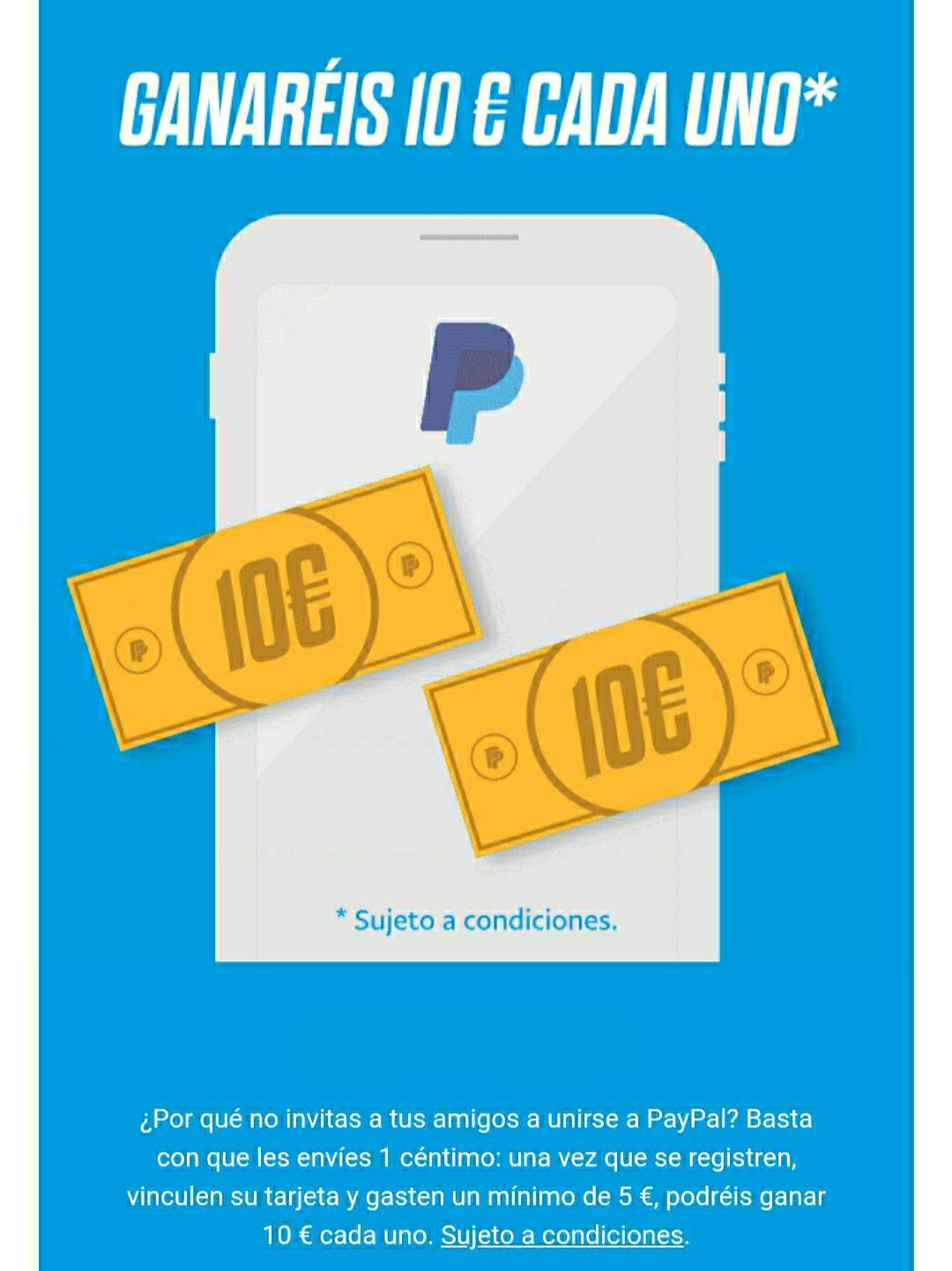 Vuelven los 10€ de Paypal por invitar a un amigo