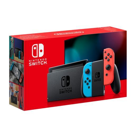 Nintendo Switch - Consola Azul y Rojo Neón
