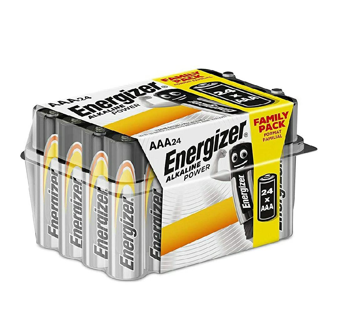 Energizer - Pack de 24 pilas alcalinas AAA