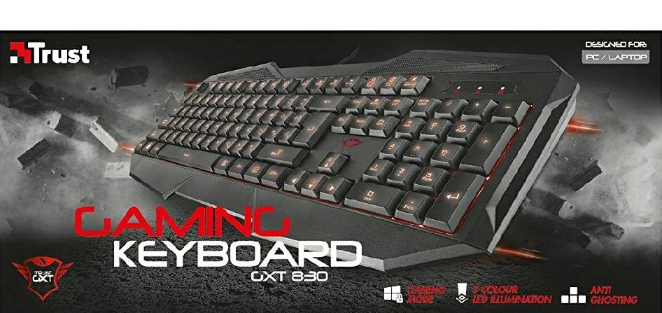 Trust GXT 830 - Teclado para Gaming Iluminado. Mínimo 2 unidades