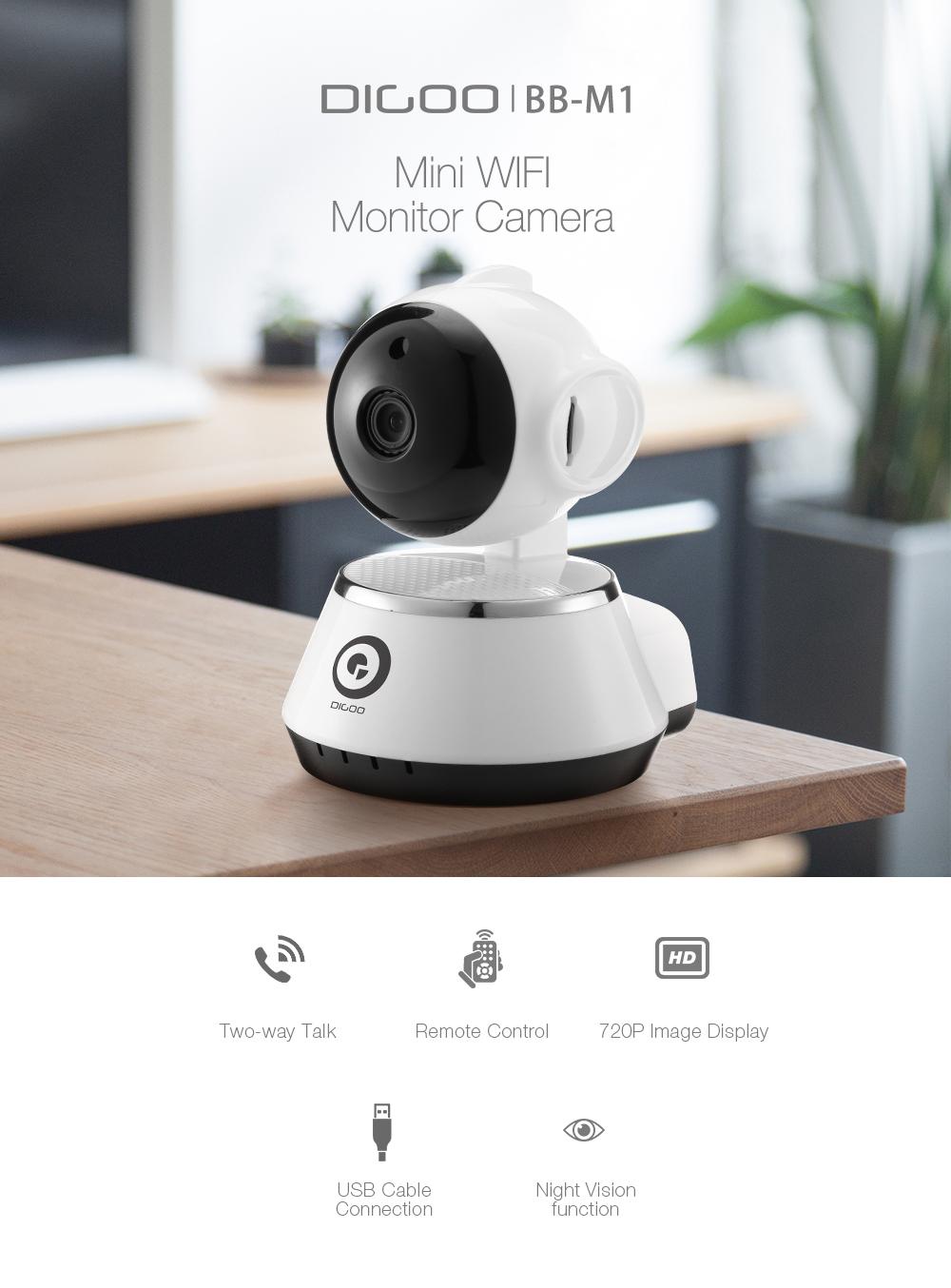 DIGOO BB-M1 720P HD Baby Monitor Smart Home WiFi Cámara