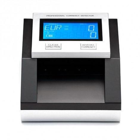 Detector billetes falsos Euro, Dolar, Libras y SEK cuenta y suma billetes, actualizable.