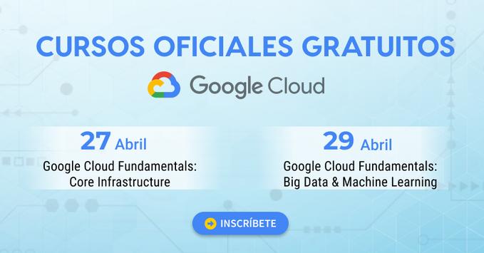 Cursos oficiales Google Cloud en Live Virtual Class