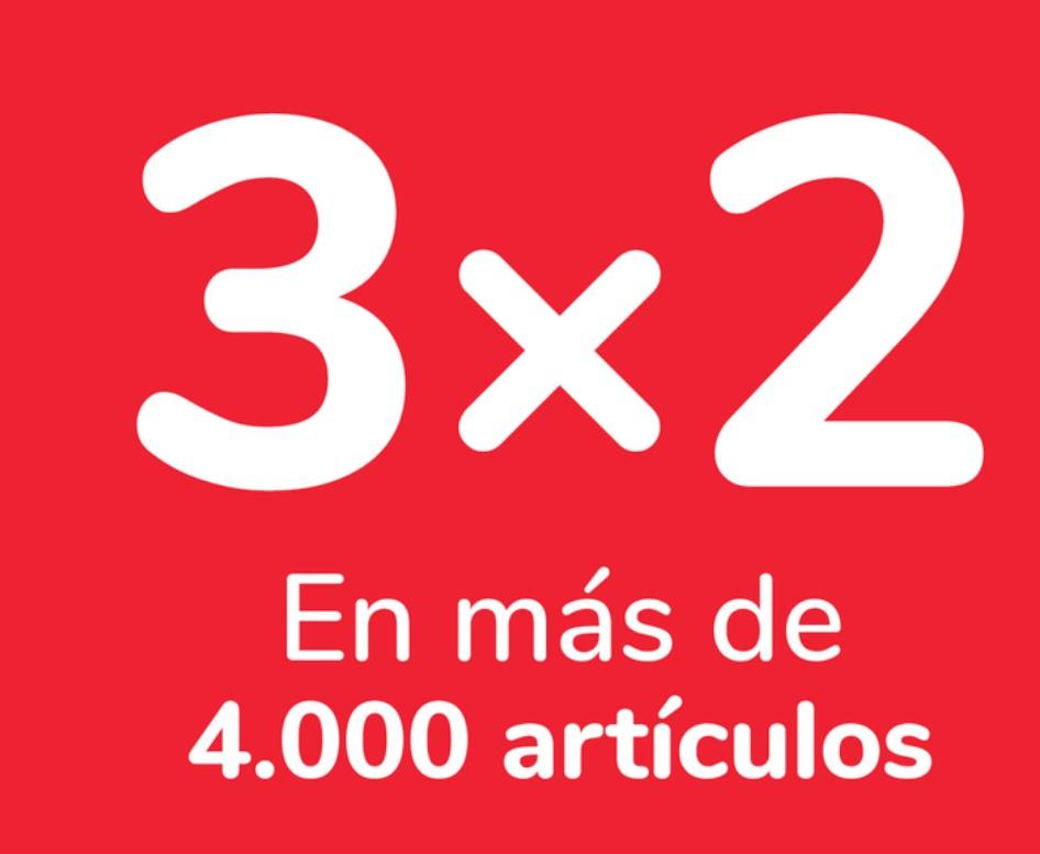 Próxima oferta Carrefour: 3x2 a partir del 28/04 + 30% que vuelve en alcoholes