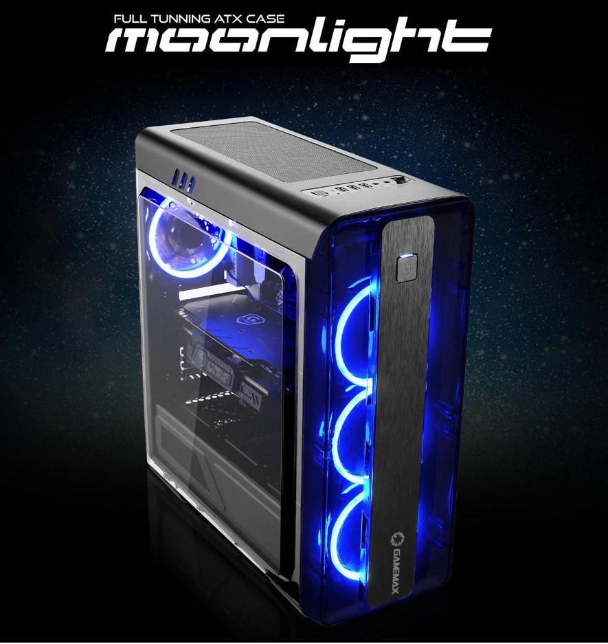 Caja torre ATX Moonlight-B-Blue (Solo 3 UNIDADES)