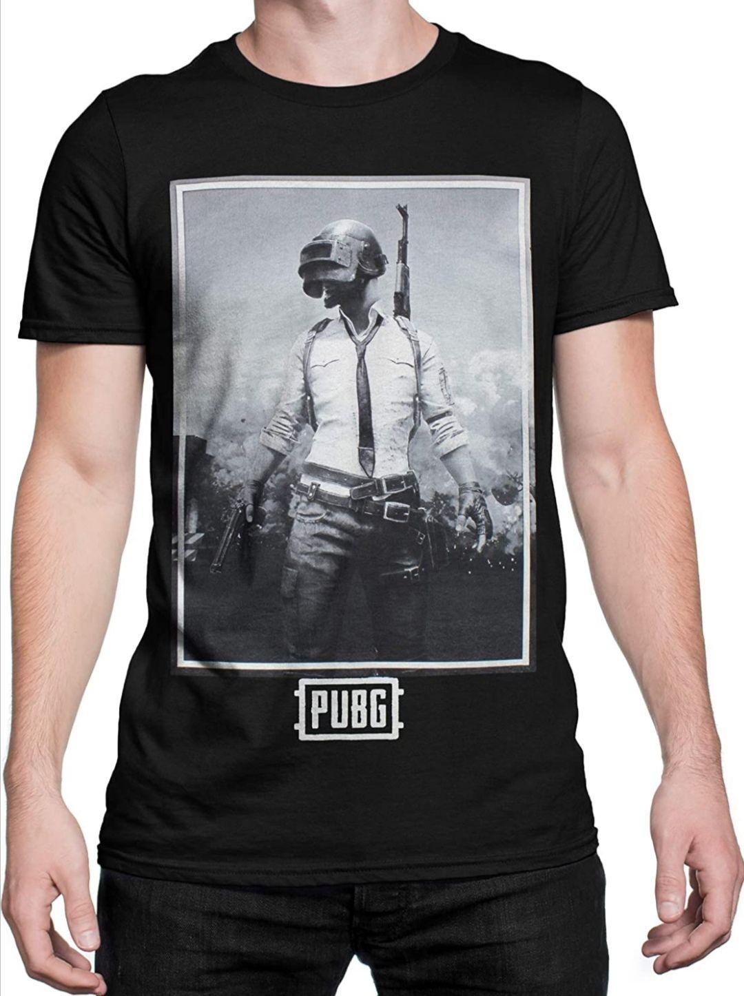 Camiseta para Hombre PUBG Negra