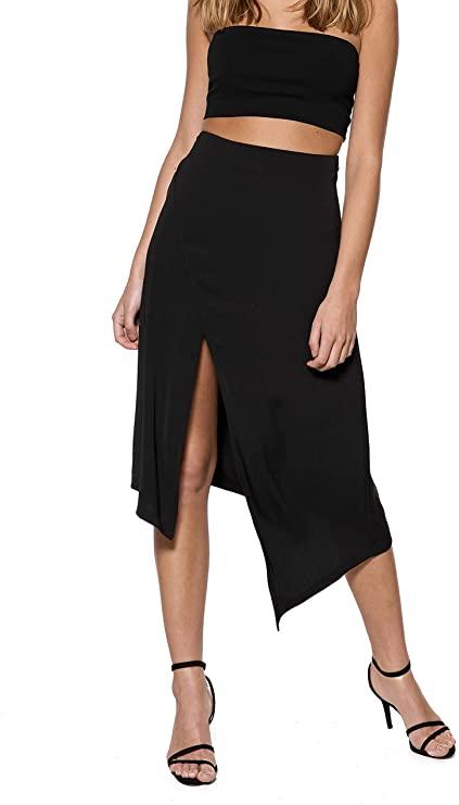 IVYREVEL High Slit Skirt Falda para Mujer, talla 34 (talla del fabricante 32), en negro.