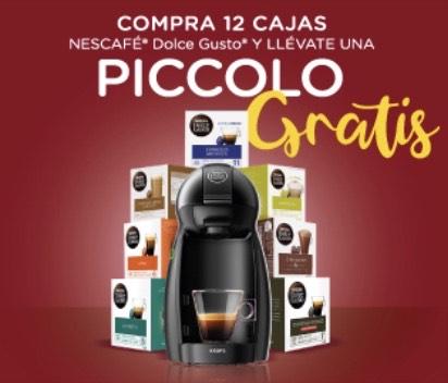 Cafetera Dolce Gusto Piccolo con 12 cajas de cápsulas