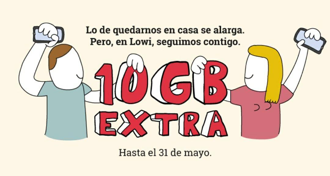 Otros 10 GB gratuitos en Lowi