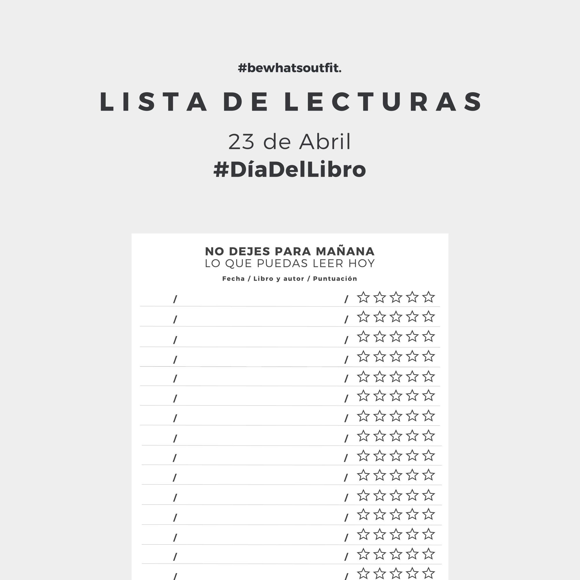 IMPRIMIBLES GRATUITOS #DiadelLibro y más