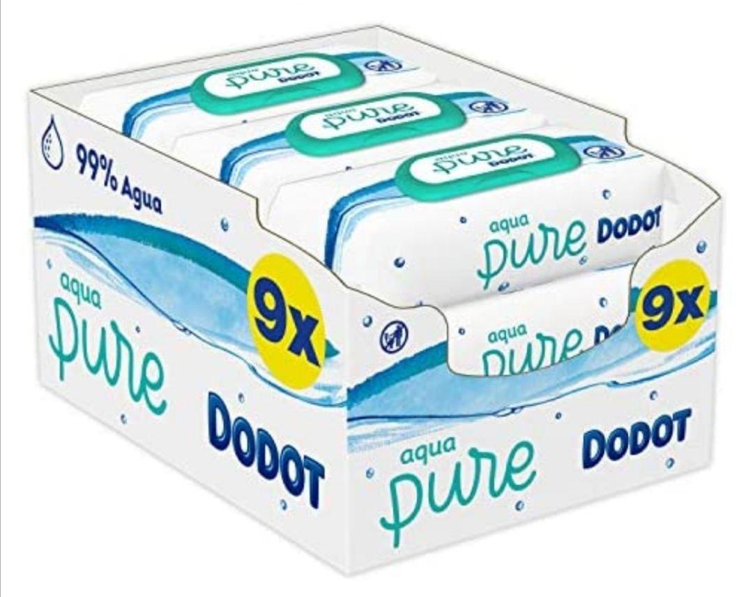 Dodot Aqua Pure Toallitas Bebé con 99% Agua, 9 Paquetes x 48 Toallitas