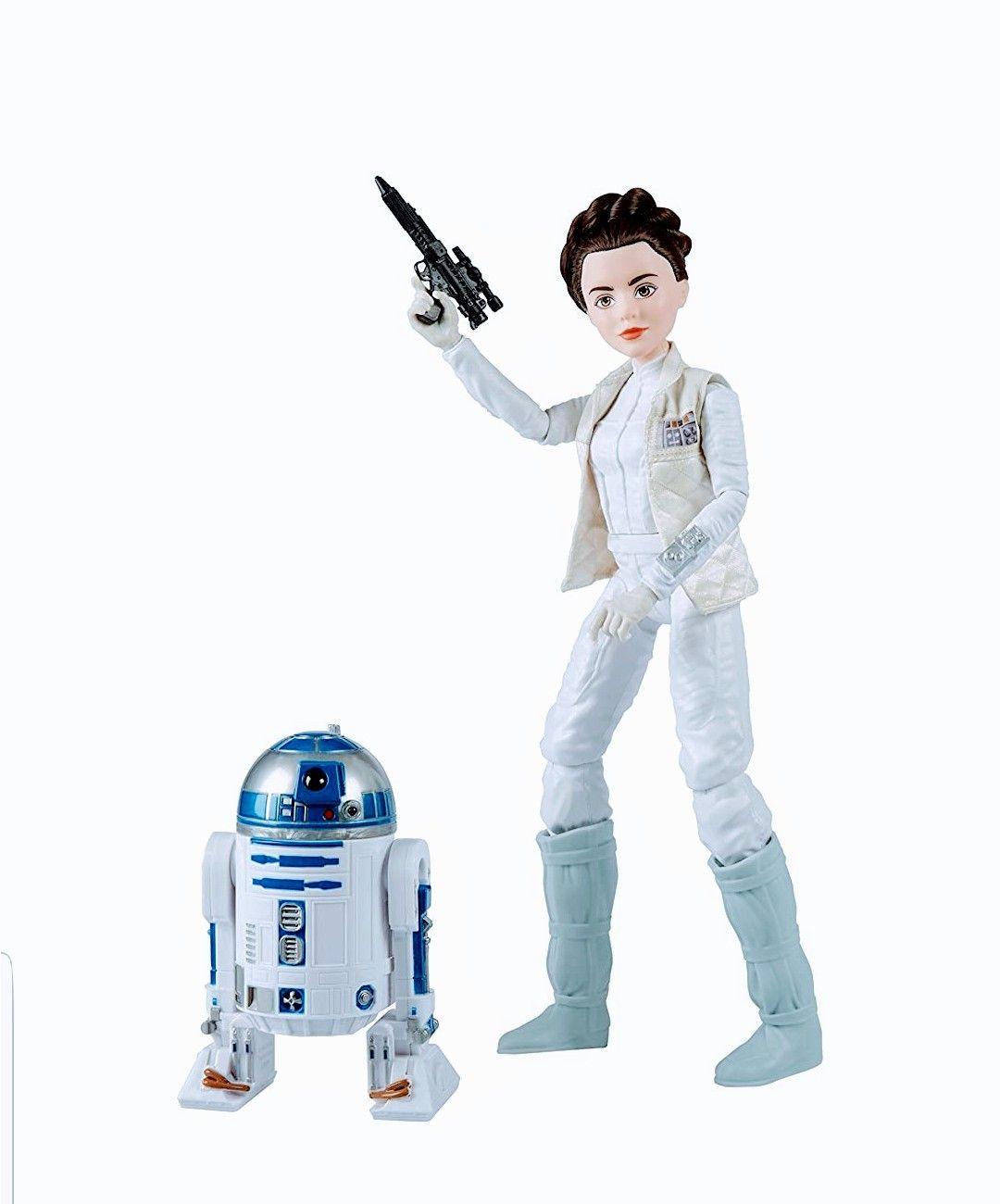Star Wars- Destiny. Figuras de Leia y R2D2.