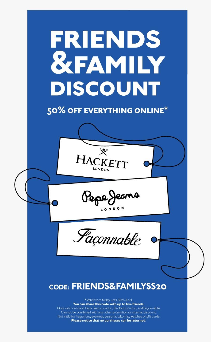 -50% en Pepe Jeans, Faconnable y Hackett