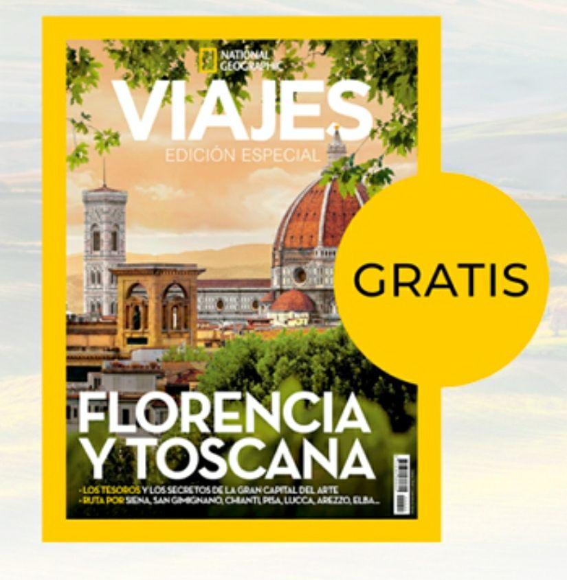 """Revista Viajar National Geographic """"Florencia y Toscana"""" GRATIS"""