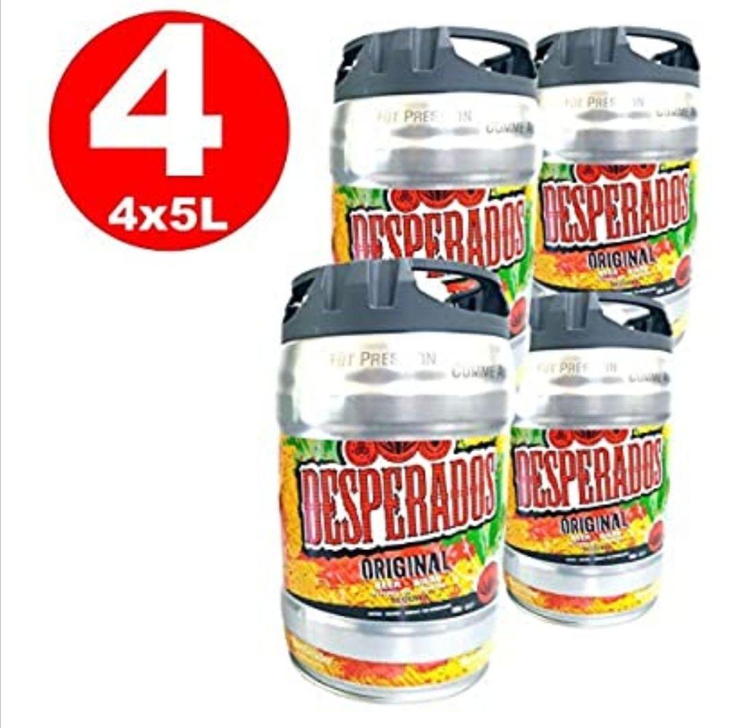4 x Desperados cerveza con tequila en 5 litros barril incl. Espita 5,9% vol (Vendedor externo)