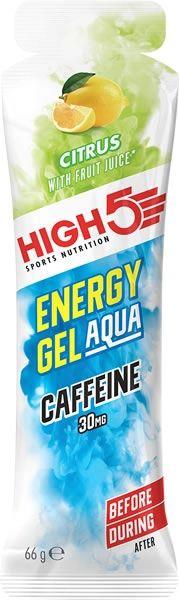 Cad.18/06/20 High5 Energy Gel Aqua con 30 mg de Cafeina 1 gel x 66 ml