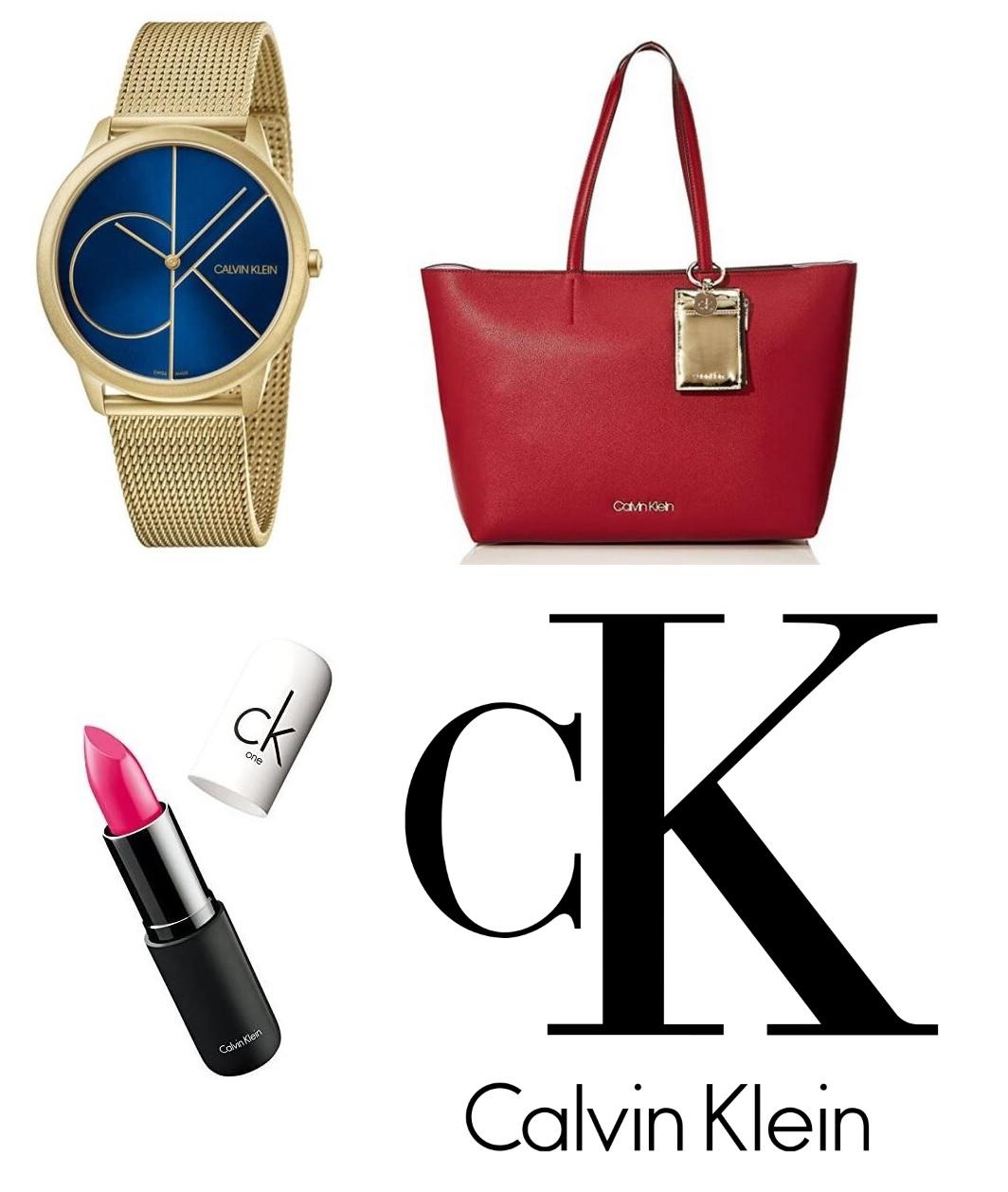 Mini-Recopilatorio CALVIN KLEIN (Bolso + reloj + pintalabios)